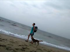 walking completely varalie kay getting doggystyle at the beach