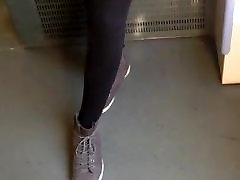 Public Voyeur Black married bully with Stockings