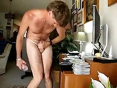 Fabulous Homemade Gay record with Brunette, Solo Male scenes