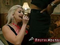 Ebony anal bdsm blonde bondage Big-breasted blonde