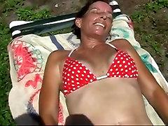 Fingering My mom got suprise fuck Wet nylon monster dick In The Hot Florida Sun