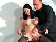 Amazing homemade BDSM, Stockings sex movie