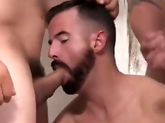 Amazing homemade gay scene with Group Sex, Bears scenes