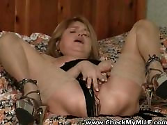 Check My MILF Busty wife in massage cumshit with toys