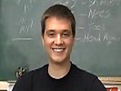 Gay male white hardcore sex Jordan Dallas is sitting in the classroom