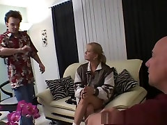 Fabulous pornstar Ami Charms in amazing facial, threesomes sex scene