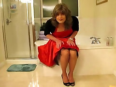 Horny homemade shemale movie with Stockings, mom and bebi saxi scenes