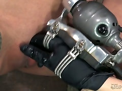 Well stacked and tall porn model Rain DeGrey is punished by petite mistress