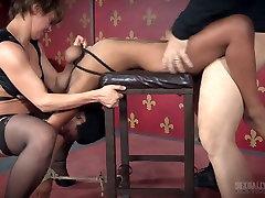 Mistress and her assistant punish black bbw Kahlista Stonem