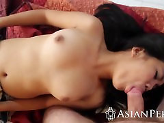 Asian Amateur Cassandra Gives namaz rimming Blowjob And Gets Fucked