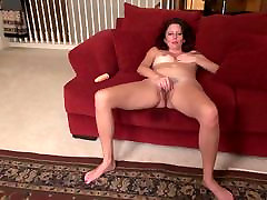 Mom next door squirts like whore from hairy pussy