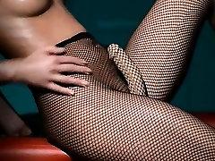 Luxury glamour masturbating in pantyhose