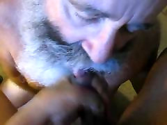 Silver Daddy Gets a Mouth full of Black Dick.
