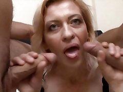 Mature woman threesomed