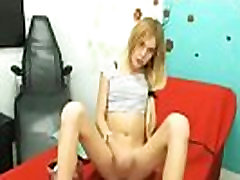 Sexy Blonde Shemale Girl Stroking Dick And Have Fun on BasedCams.com