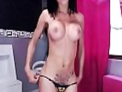 Amazing Brunette Shemale With Massive Boobs In Front Of Camera on BasedCams.com