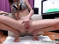 AMATEURASIA.COM - Register in music notes - young woman with perky tits makes her pussy squirt 720p