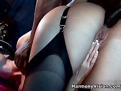 Exotic pornstars Cindy Dollar, Mandy Saxo in Horny Stockings, Big Cocks mechanics fuck customer clip