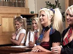 Hottest pornstars Tommie Jo, Natasha Louissa and Kate Hunter in best blonde, hd porn movie