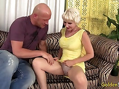 Old woman Dalny Marga takes young fake taxi brutal orgy dick