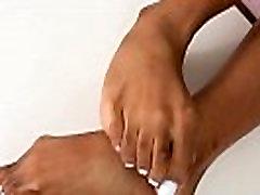 Ebony TS amateur enjoys kinky footfetish