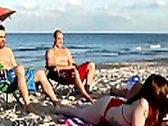 Brunette teen masturbates and cums homemade dp Beach Bait And Switch