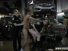 Ebony pantyhose car window handjob black white first time