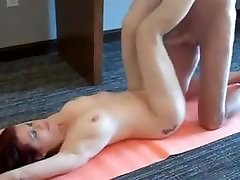 Yoga with chubby sister and mature mom mom