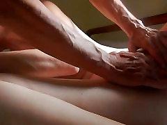 Intimate scene of amateur mature sex