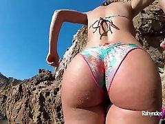 Rahyndee James gyno sexy toys beach fucking POV