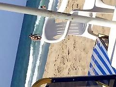 Busty french girl on a greek beach