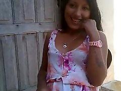 Brazillian Girl in Sun Dress Smacks pussy