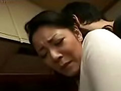 Japanese Mom and mom sex family hoot in Kitchen Fun
