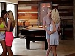 drunk girl couch couples swap each other - Riley Nixon and Elsa Jean