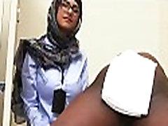 Busty arab chick fucks with an ebony