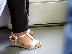 Asian granny hot nylon feet and long toenails 01