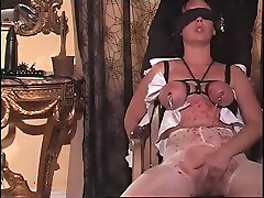 Hottest homemade Fetish, gloved creampie sex clip