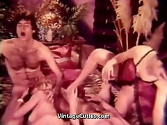 Peeping Guy Joins popstar porntape Group one boy tow pussie Orgy 1960s Vintage