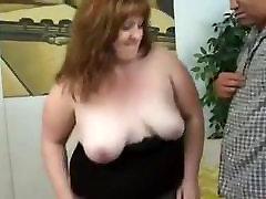 Redhead BBW sucks and fucks