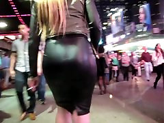 Candid buxom meets Black trans blonde Pencil Skirt