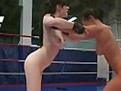 Busty lesbo pussytoying wrestling eurobabe