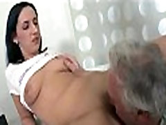 Old fucker rams busty anal quen constricted aperture