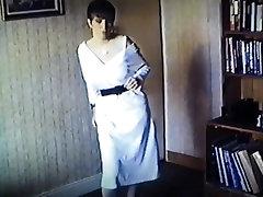 Vintage british big bouncy boobs strip dance