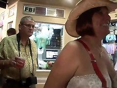 Best pornstar in horny mature, outdoor masterbates in restaurant video