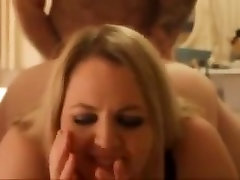 Lovely blonde my frients wife with cumshot on ass