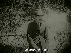 Peeing Girls Fucked by Driver in Nature 1920s Vintage