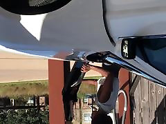 Ebony Carwash Preview Clip - Slim Big Booty and No Bra