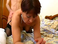 French two sister mom bro ISabelle fucked in stockings