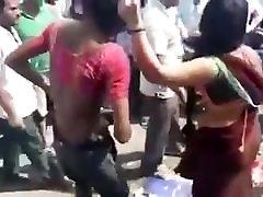 Tranny beats cummming hands free close up slave in public