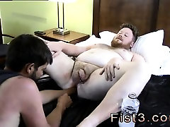 Gay toe fisting Sky Works Brocks Hole with his Fist
